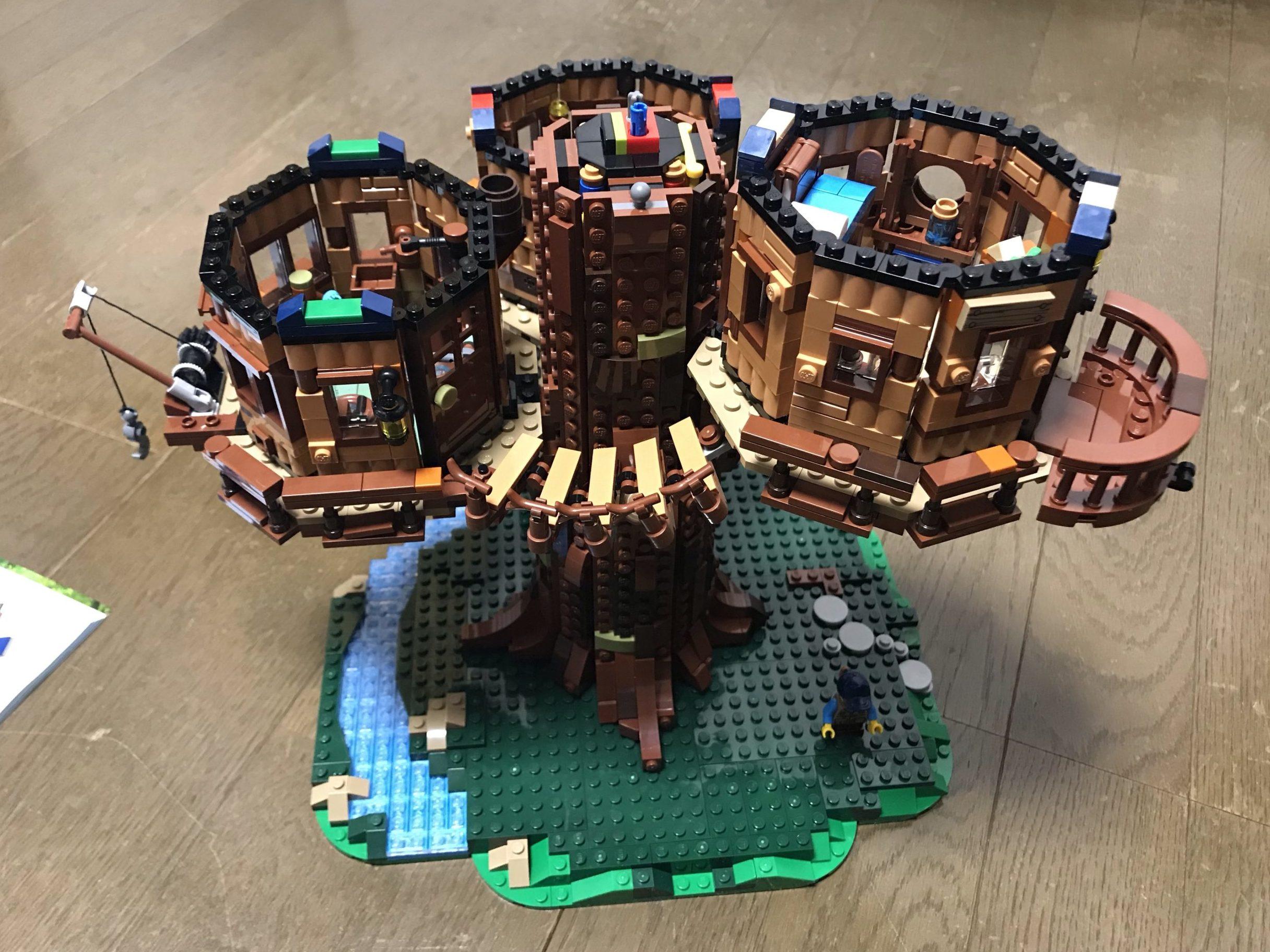 LEGOツリーハウス(21318)組み立て11~12 遊び心いっぱいの子供部屋