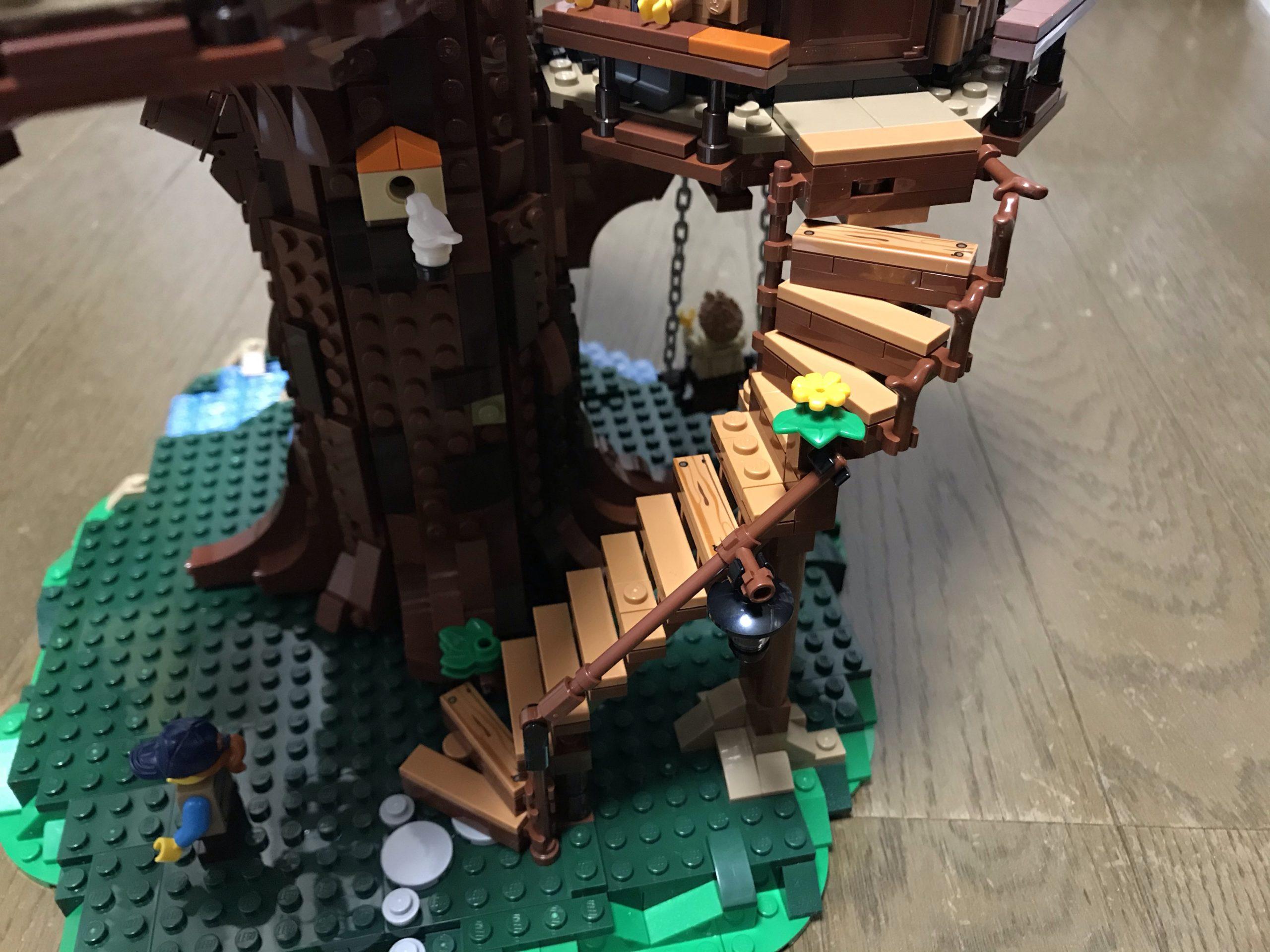 LEGOツリーハウス(21318)組み立て15~16 完成まであと一息